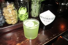 The Osborn  Muddle 2 bites of pineapple with a ring of jalapeño (seeds and membrane included)  2oz Hendrick's Gin  1/2oz fresh lime juice  1/4oz simple syrup  Shake and double strain  Top with ginger beer and a cucumber wheel garnish over ice