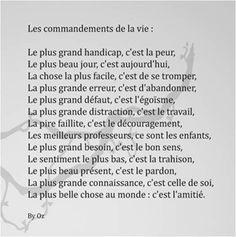 Les commandements de la vie