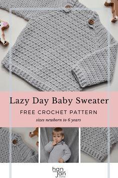 Crochet Toddler Sweater, Crochet Baby Cardigan Free Pattern, Crochet Baby Clothes Boy, Baby Sweater Patterns, Baby Boy Knitting Patterns, Crochet Baby Sweaters, Free Baby Sweater Knitting Patterns, Crochet Baby Boy Hat, Newborn Crochet Patterns