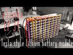 DIY Tesla style lithium 18650 battery VW BUS