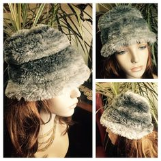 "Vintage Honeycomb Style Gray Faux Fur Hat ~ BETMAR This beautiful gray faux fur hat is in the honeycomb style. It has a knit lining and a black elasticized band. Tag reads BETMAR ~ New York ~ Paris (label a bit frayed). Still stylish to this day and a great piece to add to a collection. In wonderful preowned condition. Smoke-free home. Inside circumference measures approx. 19-1/2"" (small); crown height 7-1/2""; 9"" in diameter. Mannequin for display only & not reflective of how your hat will…"