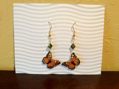 Shrink Plastic Butterfly Earrings