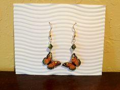 Shrink Plastic Butterfly Earrings