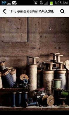 Antique threads and spools