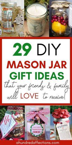 Mason Jar Christmas Gifts, Cute Christmas Gifts, Christmas Gifts For Friends, Handmade Christmas Gifts, Homemade Christmas, Santa Gifts, Christmas Crafts, Christmas Things, Christmas Ideas