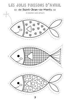 poissons davril tlcharger et colorier avec amour