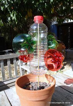 Moulin à vent, bouteille plastique