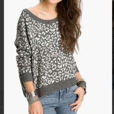 Free people jag print sweater No flaws, color is like a mintish with grey, very comfy, thick fuzzy feel, Free People Sweaters