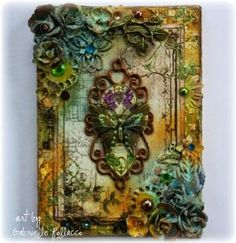 Such a Pretty Mess: Mixed Media Canvas & Video Tutorial {Shimmerz Paints & The Flying Unicorn} by simone