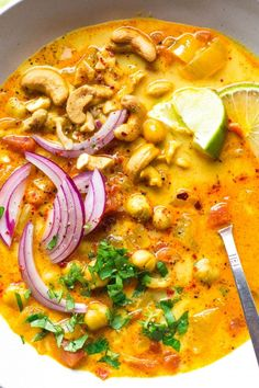 chickpea coconut minute tomato gluten curry vegan soup free and 30 30 Minute Chickpea and Tomato Coconut Curry Soup vegan gluten freeYou can find Curry soup and more on our website Curry Recipes, Veggie Recipes, Indian Food Recipes, Soup Recipes, Whole Food Recipes, Vegetarian Recipes, Cooking Recipes, Healthy Recipes, African Recipes