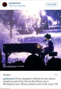The Purple Rain hitmaker had performed at The Fox Theatre in Atlanta on last Thursday nigh...