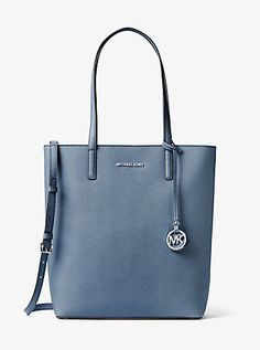 Hayley Large Top-Zip Leather Tote | Michael Kors