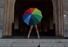 ballet, colors, and guarda-chuva image