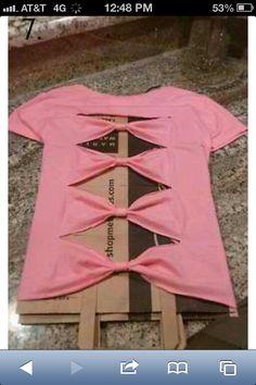 DIY multi bow shirt