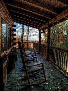 If we lived in the country I would love a log cabin with a wrap around porch! Cabin Homes, Log Homes, Cottage Homes, Cabin Porches, Front Porches, House Porch, Country Porches, Southern Porches, Side Porch
