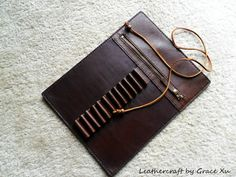 100 hand stitched handmade brown cowhide by leathercraftbygrace