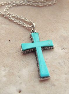Turquoise cross my bling pinterest turquoise bling and fashion aloadofball Images