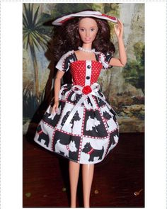 Scotty  Dogs Handmade Barbie Dress Hat Underwear by MySweetBarbie, $19.99