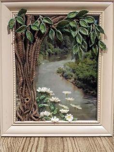 Crochet tree and daisies - Crochet creation by SRO-AUSTIN
