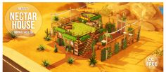 Meisiu's Nectar House• §48,298 | 20 x 15 | 2 Beds w/ 1 bath Comes stocked with some garden plants. CC free but I own all the packs. EA ID: vicky1qa | Tray files | Donate?