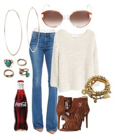 """""""Relaxed and Cool"""" by cindiawb ❤ liked on Polyvore featuring Frame Denim, MANGO, Steve Madden, Michael Kors and Balenciaga"""