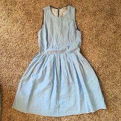 GAP dress Light blue dress, small pleat details, pockets on both side. Worn two times, like brand new. GAP Dresses