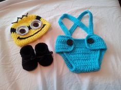 Hey, I found this really awesome Etsy listing at https://www.etsy.com/listing/164590468/minion-crochet-baby-photo-prep