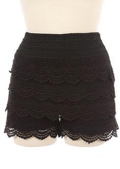 Black Lace Shorts Black Crochet Shorts, Lace Shorts, Knit Shorts, Black Lace Skirt, Cute Woman, Wholesale Clothing, Affordable Fashion, Skort, Lace