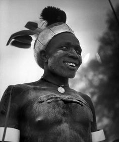 Africa | Latuka tribesman from Torit. Rainmakers. Sudan. 1949. | © George Rodger