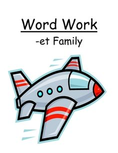 "Fern Smith's Center Game ""The -et Family!"" Word Work / Phonics / Spelling UnitAdorable Jet Theme!"