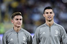 Paulo Dybala of Juventus and Cristiano Ronaldo of Juventus during the Serie A match between Frosinone and Juventus at Stadio Matusa, Frosinone, Italy on 23 September (Photo by Giuseppe Maffia/NurPhoto via Getty Images) Cristiano Ronaldo, Ronaldo Juventus, Football Players, Superstar, Guys, Athletes, Nike Wallpaper, Hs Sports, Soccer