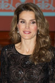 Princess Letizia of Spain attends the 'Royal Academy of Language' (RAE) ceremony income for Spanish author Carme Riera on November 7, 2013 in Madrid, Spain.