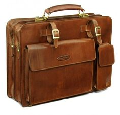 Men's Briefcase in Classic Tan (Alanzo)