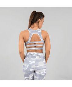 Versa Forma Camo Crop Bra White Edition-Versa Forma-Gym Wear