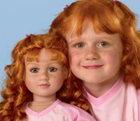 Whats worse than one creepy ginger kid?? A creepy ginger kid with an indentical doll!!!!