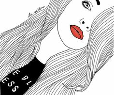 Image uploaded by YURALIA. Find images and videos about girl, art and black and white on We Heart It - the app to get lost in what you love. Tumblr Outline, Outline Art, Outline Drawings, Cool Drawings, Tumblr Drawings, Tumblr Art, Overlay Tumblr, Girl Tumbler, Girl Outlines