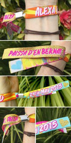 personalised Ibiza wristbands http://www.wedfest.co/ibiza-wedding-seating-plan-elixir-shore-club-ibiza/