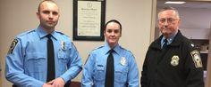 PHOTO: A photo provided by the Prince William County Police Department shows, from the left, Officer Steven Kendall, and Officer Ashley Guindon with Lt. Col. Barry Bernard, deputy chief of the Prince William County, Va., Police Department.