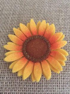 Felt Sunflower 3 inch diameter