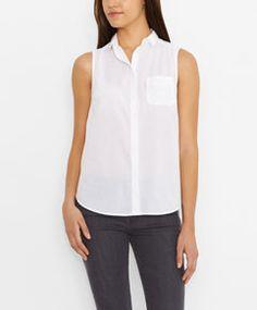 Light and cool. Sleeveless One Pocket Shirt - White - Levi's - levi.com