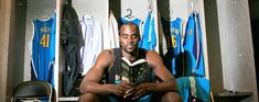 Emeka Okafor of the Hornets recently finished Cormac McCarthy's 'The Road.' #people #reading #books