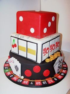 Hubs and one of his good friends are doing a 40th birthday bash together.  This would be a perfect cake for his friend.