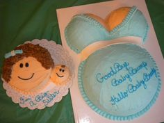 big sister cake — Baby Shower minus the bellly cake. all baby cupcakes for friends