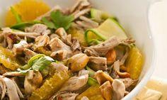Salada de Frango Desfiado com Molho Agridoce