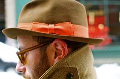 orange in the hat