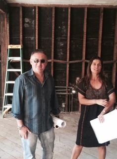 Day 4 of construction..Cortney with Sia….