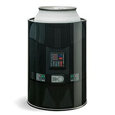 Let Darth Vader help regulate your personal temperature with this Darth Vader Can Cooler. It'll keep your drink cool. The rubber inner liner keeps your drink in place and your hand human-temperature.