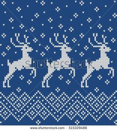 Find Norwegian Sweater Deer Seamless Knitting Pattern stock images in HD and millions of other royalty-free stock photos, illustrations and vectors in the Shutterstock collection. Knitted Mittens Pattern, Fair Isle Knitting Patterns, Christmas Knitting Patterns, Sweater Knitting Patterns, Knitting Charts, Knitting Stitches, Christmas Charts, Christmas Stocking Pattern, Cross Stitch Kits