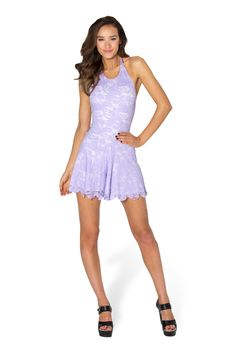 Once Upon A Time Lilac Playsuit - LIMITED by Black Milk Clothing $99AUD