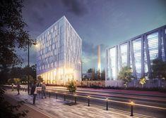Офисный центр. (Митино, Москва). Проектное бюро BADR5 #BADR5 Skyscraper, Multi Story Building, Projects, Log Projects, Skyscrapers